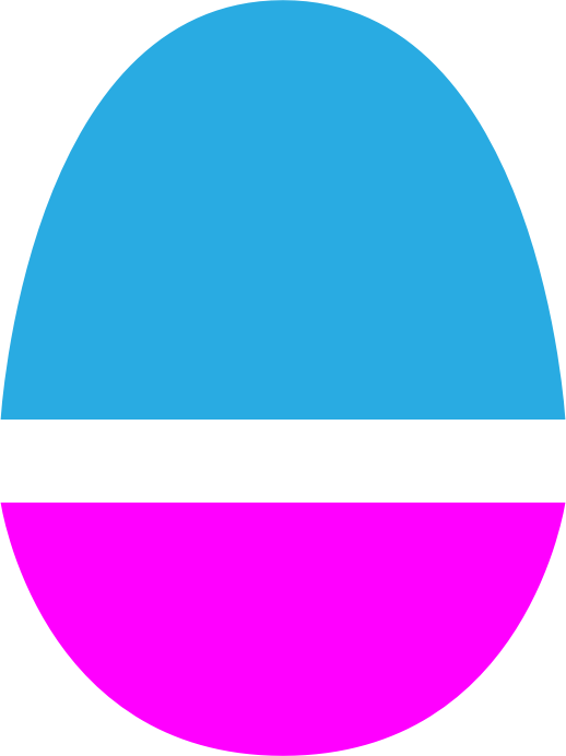 Magenta and blue egg. by jgm104