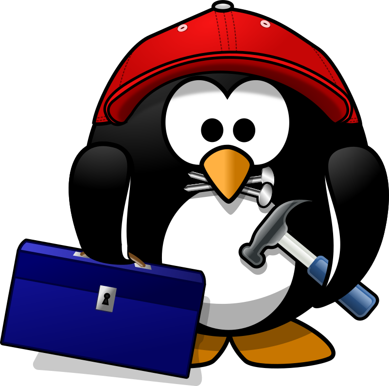 Craftsman penguin by Moini - This dexterous little penguin is there to repair ;-)