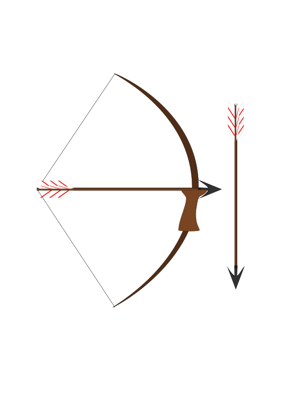 Clipart - Bow and arrow