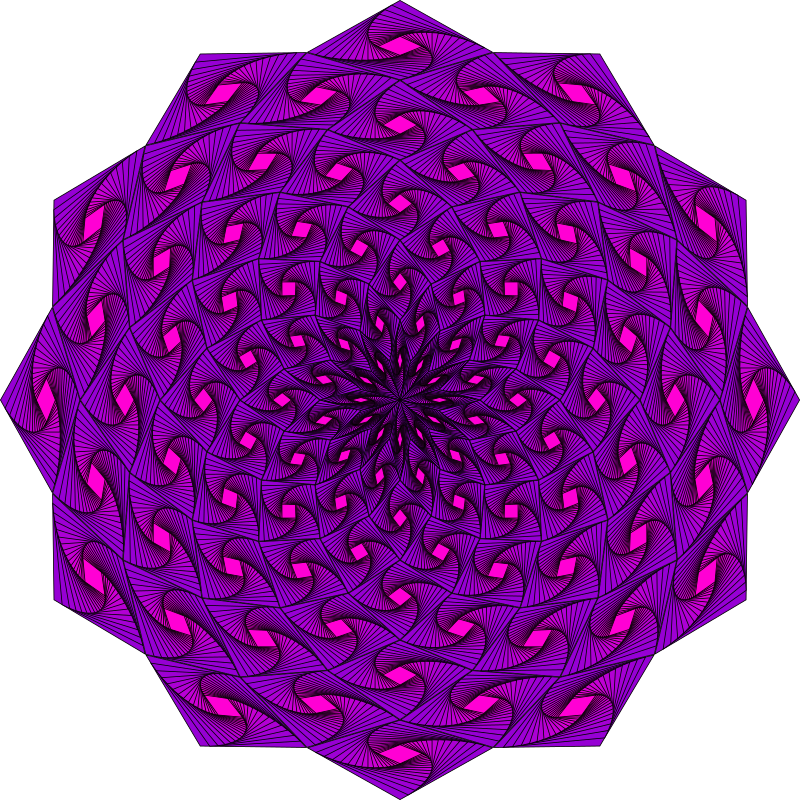 Weaving Iris Mandala by playful-geometer - A mandala generated with the playSVG (https://sourceforge.net/projects/play-svg/)  Inkscape extension Radial Tile