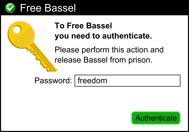 Free Bassel Dialog Box by lordoftheloch - Please Free Bassel! 