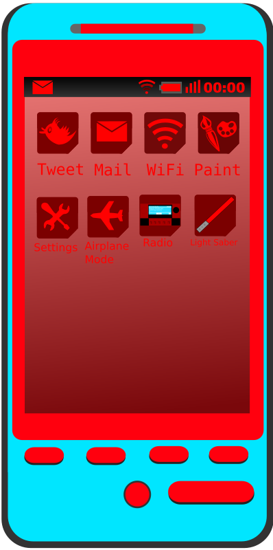 Android Phone Blue and Red by ninja246810 - Android mobile phone