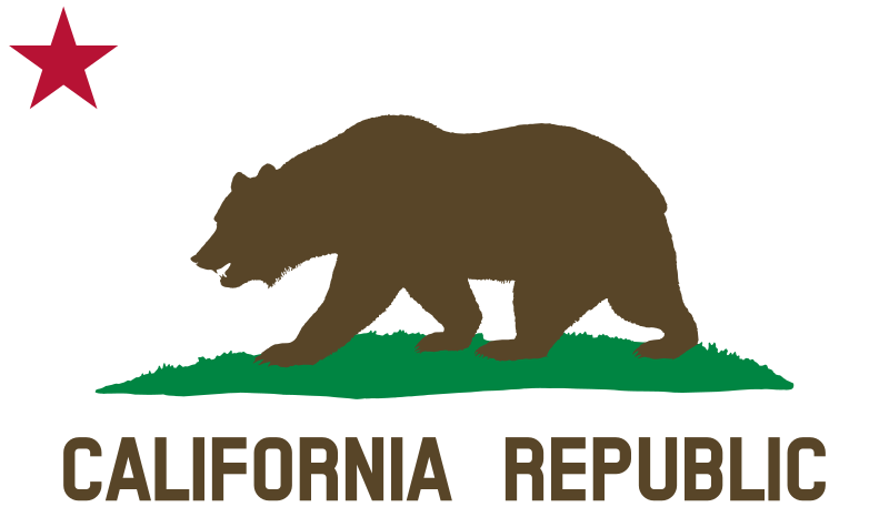 Flag of California (Bear, Star, Plot, Title, Solid) by DevinCook