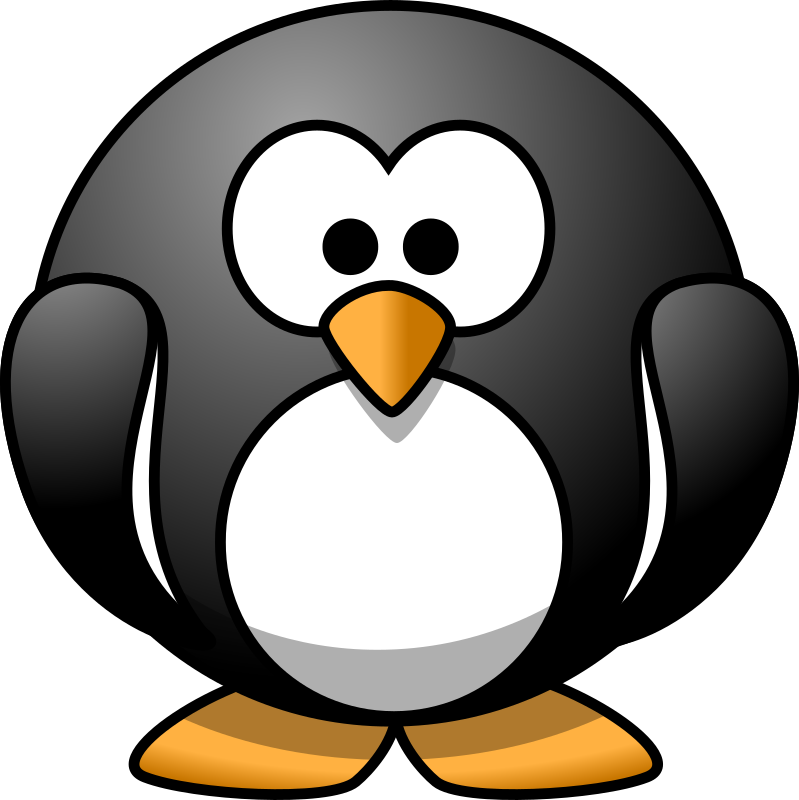 Cartoon penguin by lemmling