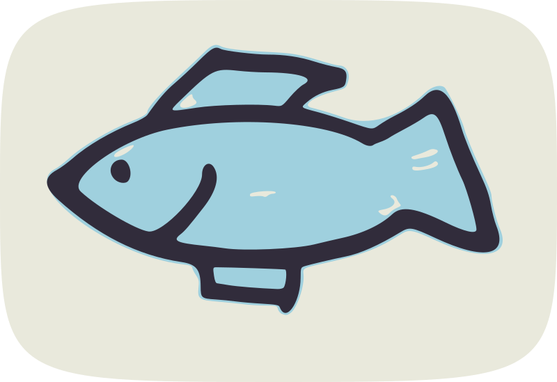simple fish by global quiz - clip art, clipart, fish, hand drawn,