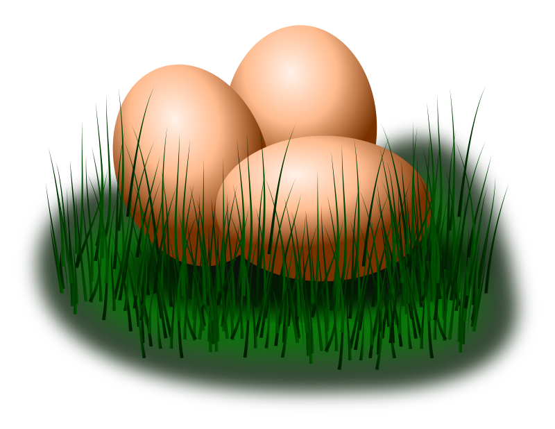 egg in grass by jarda - Three eggs in grass