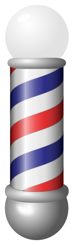 barber pole by jarda - A barber pole often seen outside places that cut hair or people sing in the barbershop quartet