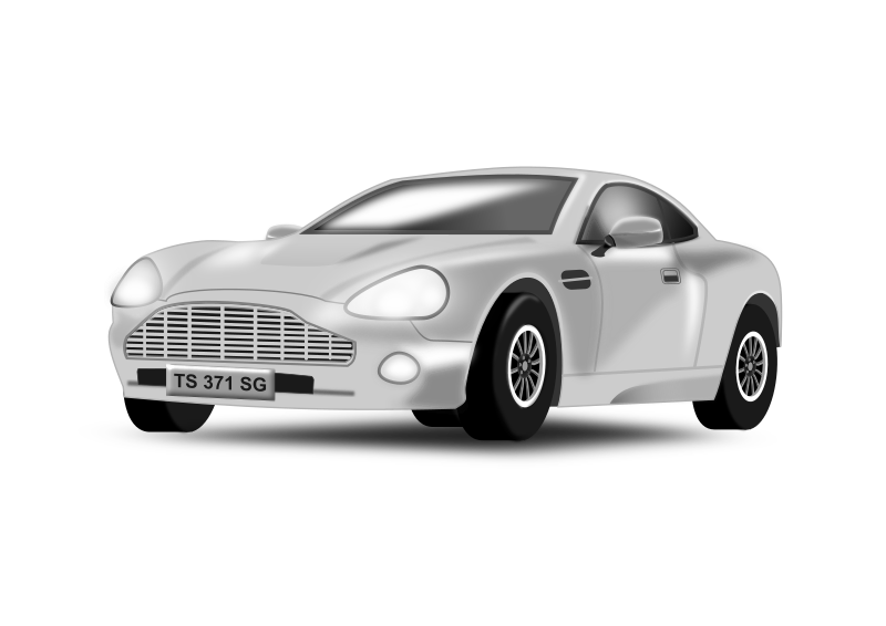 Silvery Car by t_sapto_adji - Using two kinds of color : gray and white, pen tool, blur and opacity we can easily create a nice look of a silvery colored car.
