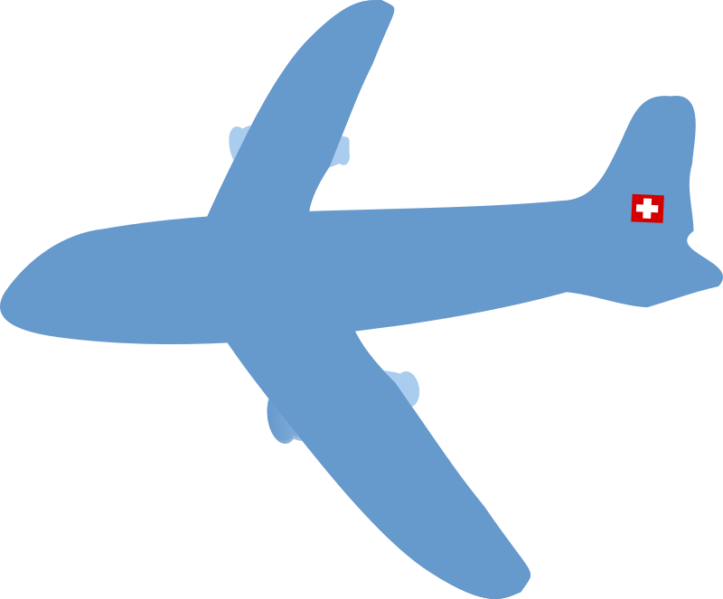 Swiss aircraft by chatard - A swiss airplane simplified