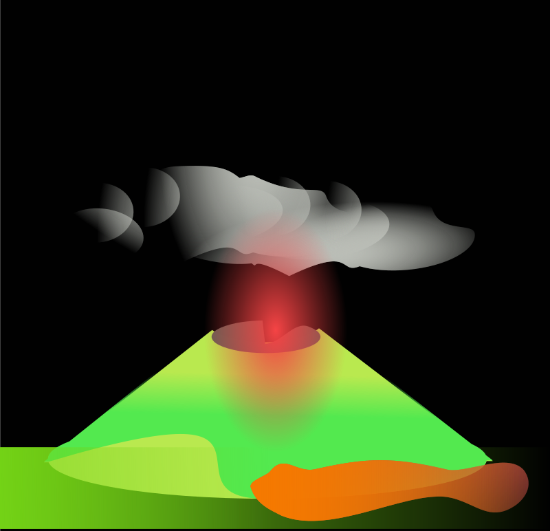 volcano by chatard - An erupting volcano