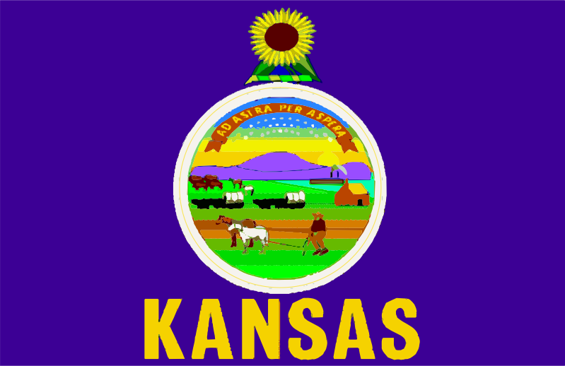 Clipart - Flag of State of Kansas