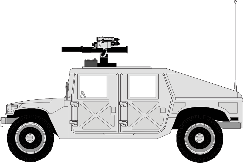 White Humvee by Anonymous - Humvee military car