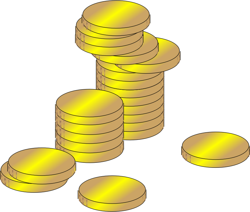 gold coins by ArtFavor - golden coins
