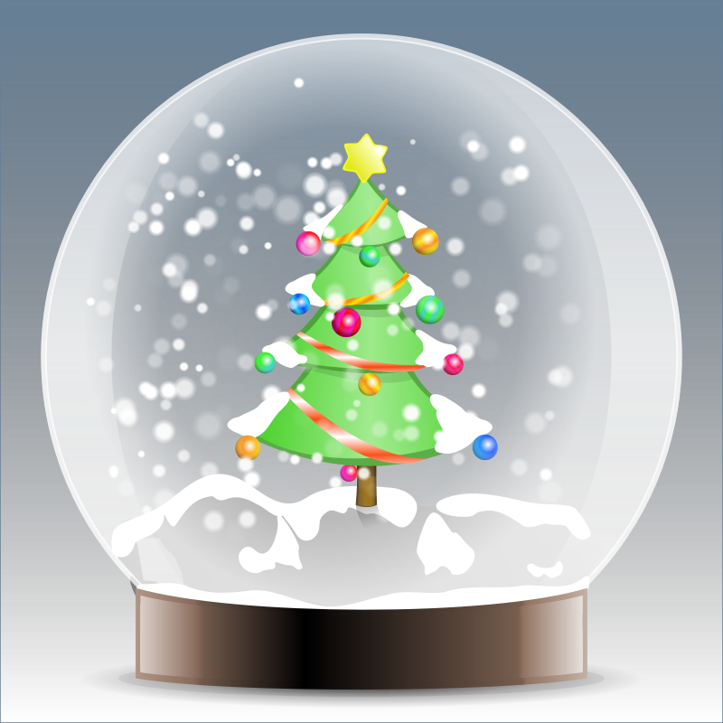 Christmas tree snow globe by BenBois - a snow globe with christmas motive