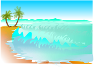 beach by biswajyotim - Picture of a beach with waves.