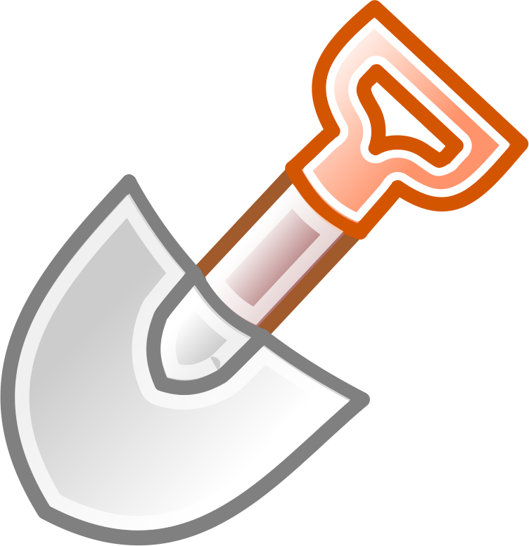 shovel icon by camu72 - icon of a shovel