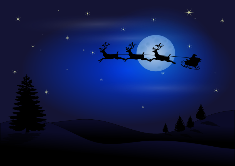 Santa in the sky by Chrisdesign - Santa Clause is coming.