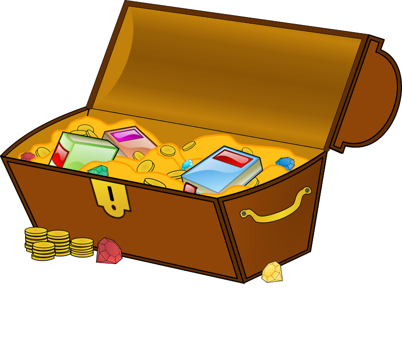 treasure chest by eady - A open and filled treasure chest.