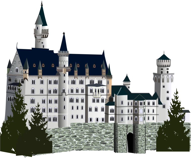 medieval castle, detailed version by gurica - Medial palace with more details.