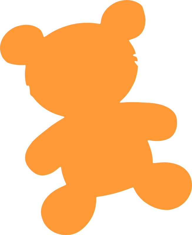 bear toy silhouette by witchlines - bear toy silhouette
