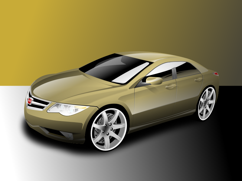 nice yellow car by hakim - a photorealistic car.