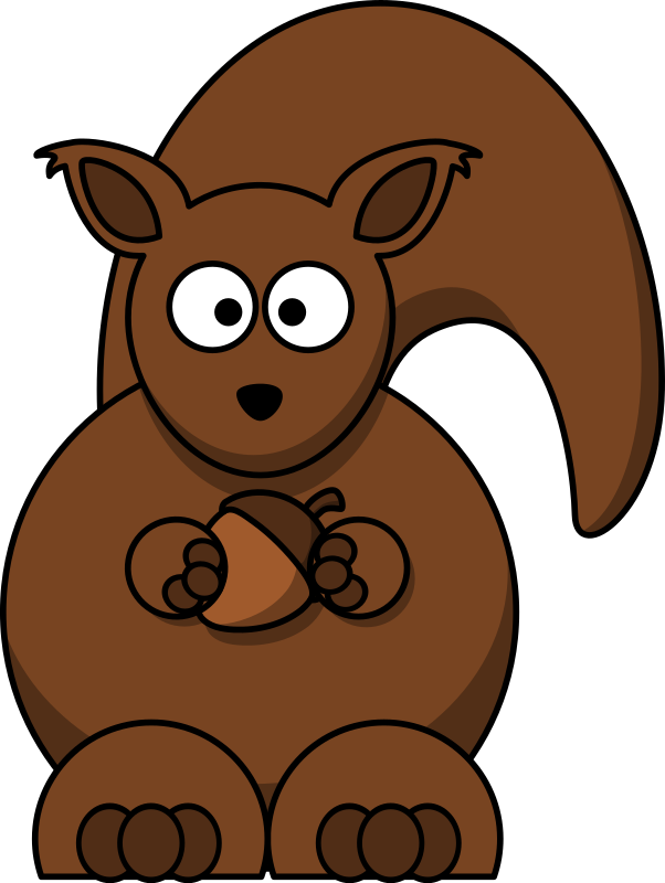 Cartoon squirrel by lemmling - A brown squirrel.