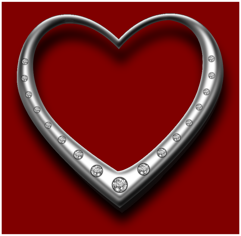 love heart by johnny_automatic - heart-shaped jewelry with diamonds