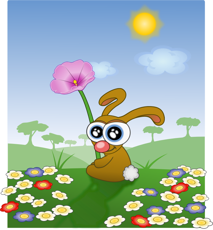 liakad_1 by liakad - A funny little bunny with a flower.