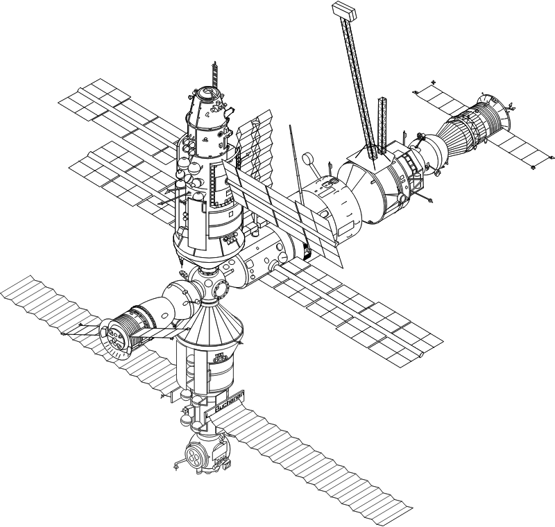 International Space Station by molumen - A very detailed drawing of the International Space Station.