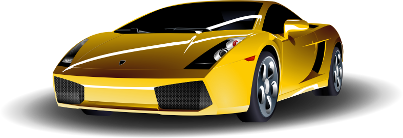 Yellow Sports Car by ryanlerch - A yellow sports car