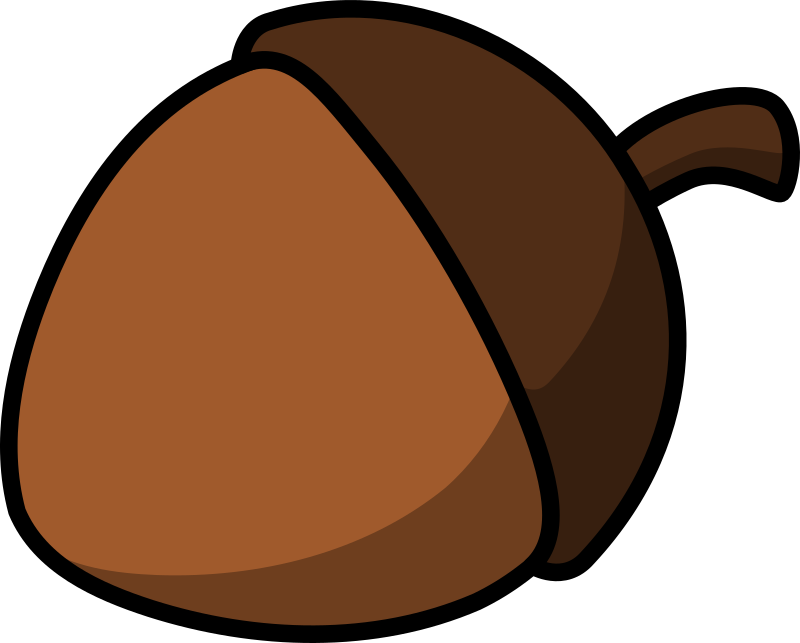 Https Openclipart Org Detail 17617 Cartoon Acorn By Lemmling
