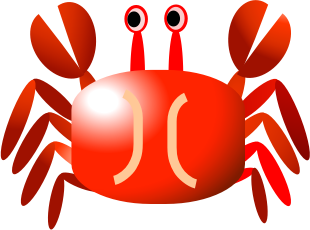 Red Crab by TA - A cute red crab.