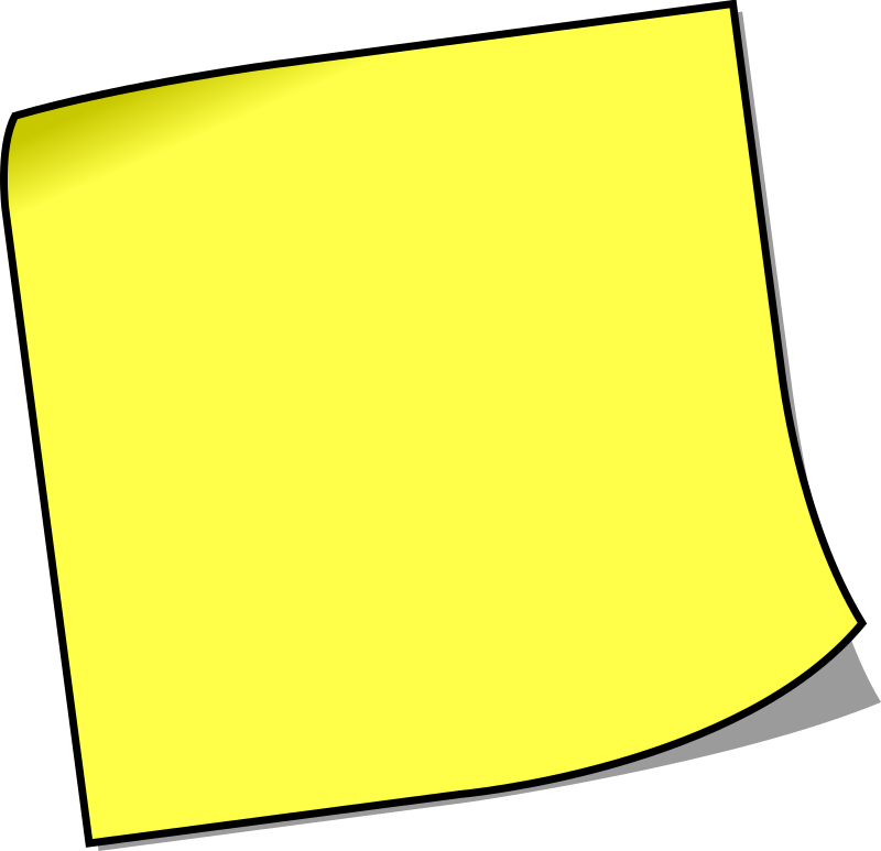 Blank sticky note by lemmling - A blank sticky note to write your own text on
