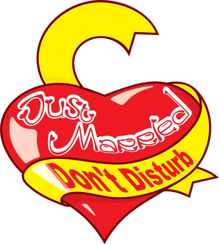 "'Just Married' heart by wardogs - ""Just Married"" symbol/sign"