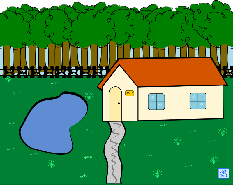 msp910_018a7553 by msp910 - A 2D drawing of a house in its environment.