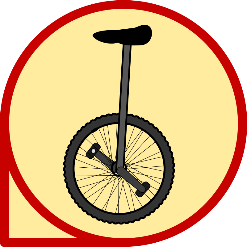 Unicycle Icon by k4r573n - an icon with an unicycle