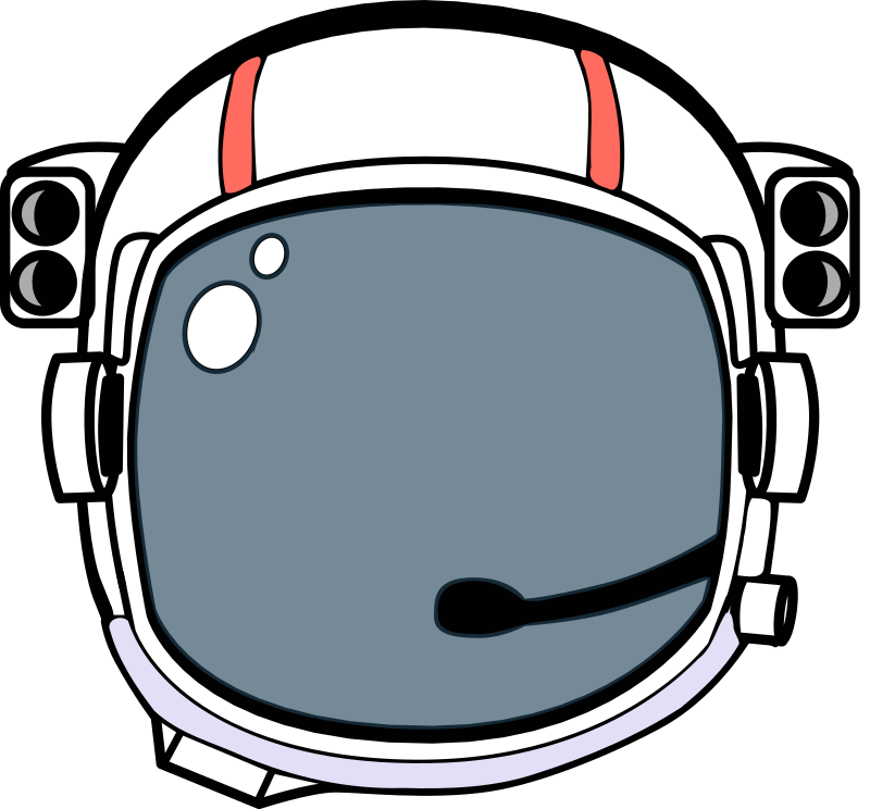 Space Helmet by Magnesus - A colored version of the Astronaut's Helmet made as a episode logo for my Space Bubble Shooter game.