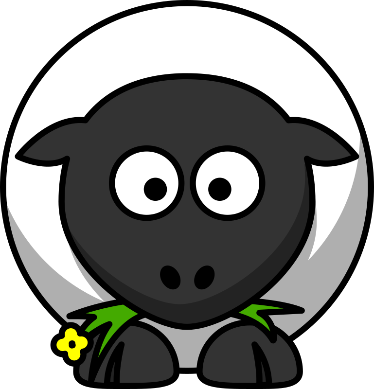 Cartoon sheep by lemmling - A very round sheep :)