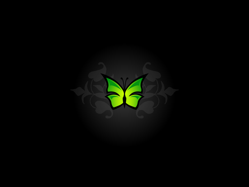 Simple butterfly wallpaper by lemmling