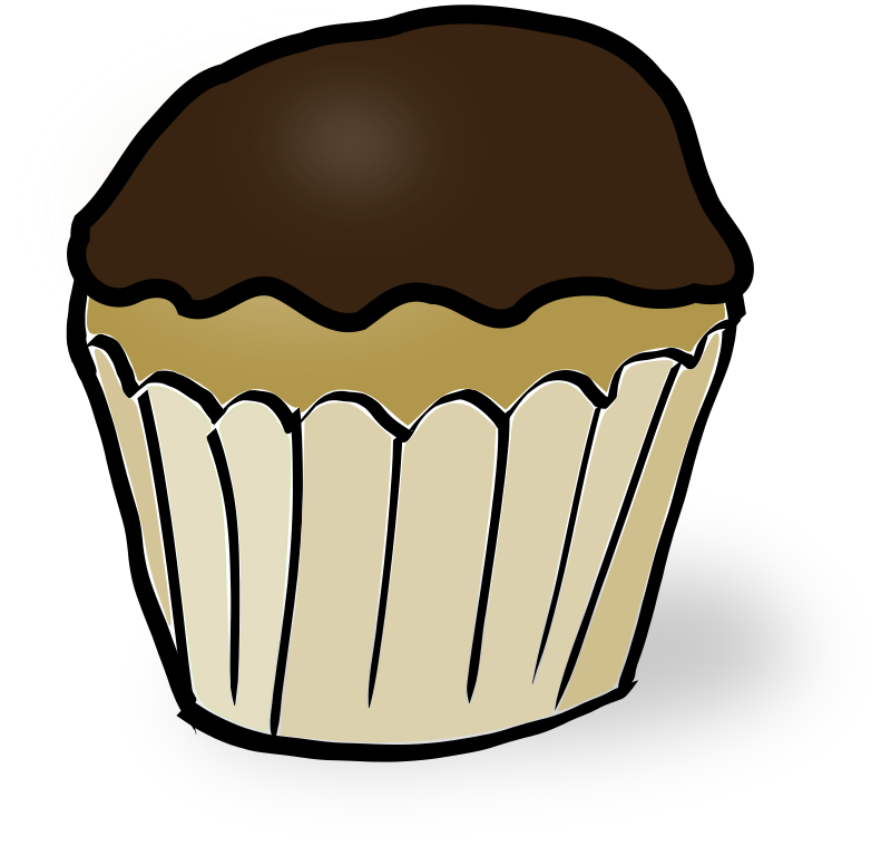 Clipart - Chocolate Muffin