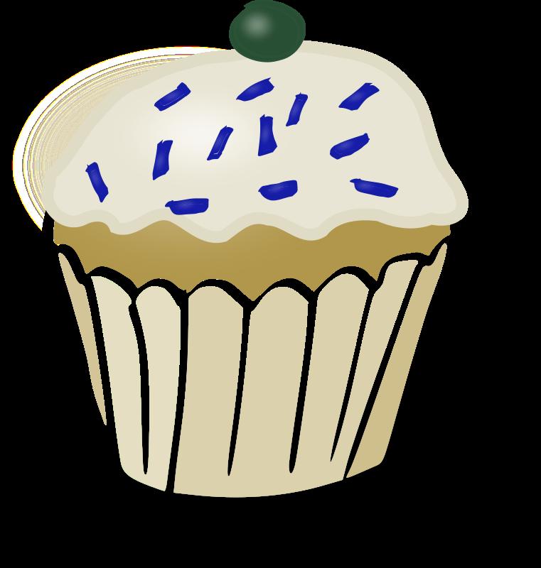 Clipart - White Muffin