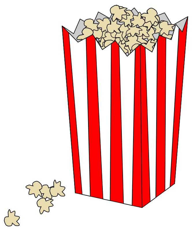 Movie Popcorn Bag by rocke86 - Bag of popcorn in a bag like at the movies.