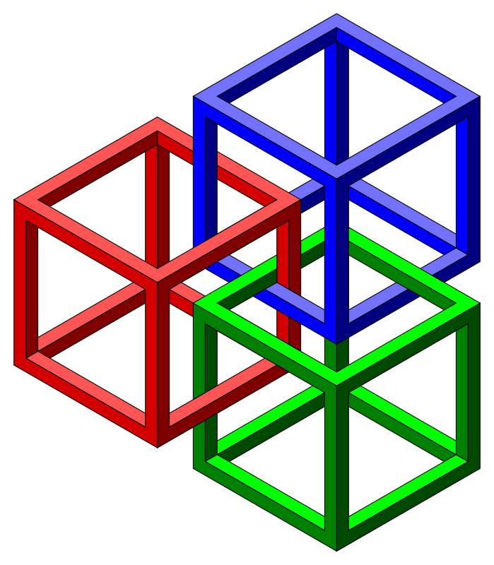 Impossible cubes by jarda - Impossible cubes all tied up :)
