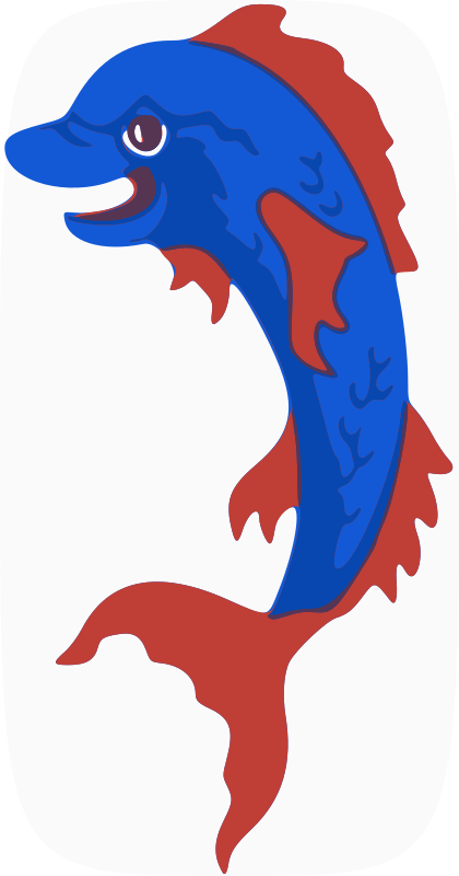 "dolphin by animals - This heraldic dolphin has been used in the <a href=""http://en.globalquiz.org/mammals-quiz/"">mammals quiz</a>"