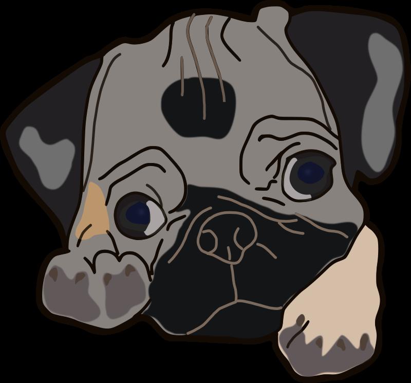 Clipart - Cute Pug