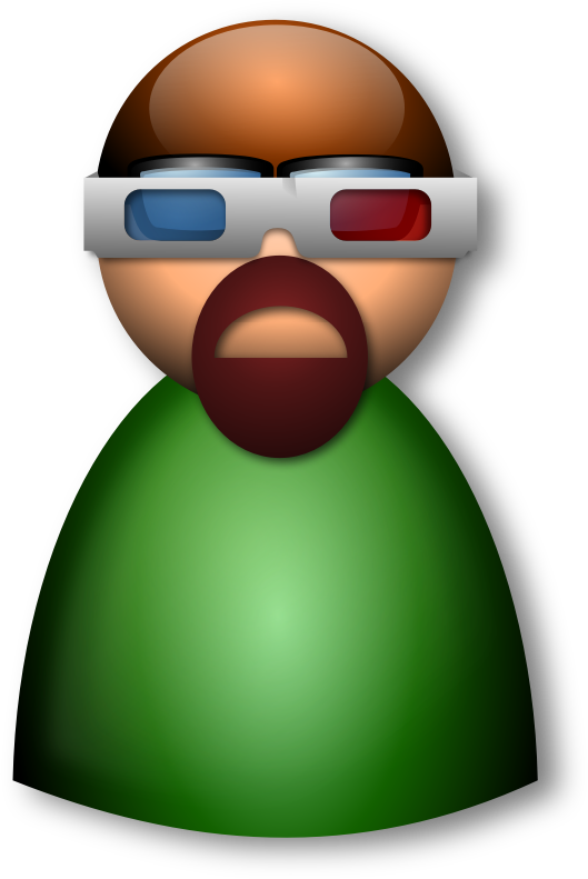 3d Glasses 4 by Merlin2525 - A person using 3d glasses.