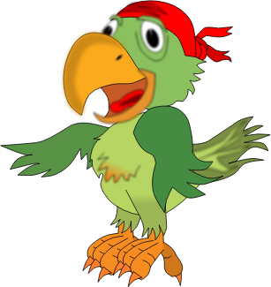 Pirate parrot by Eypros - Just a pirate 's companion parrot