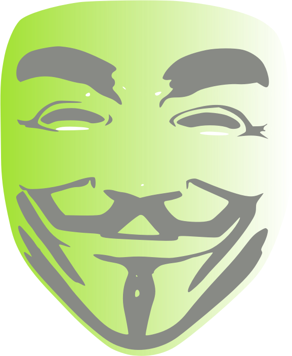 Anonyous Face Mask by chatard - The anonymous face mask from V for Vendetta.
