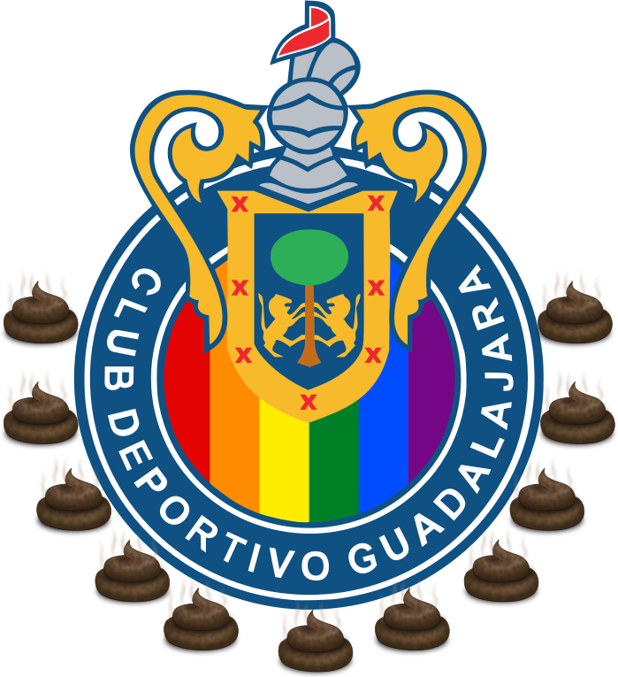 Chivas de Guadalajara by feesgo - A symbol of a soccer team with steaming poop around it.
