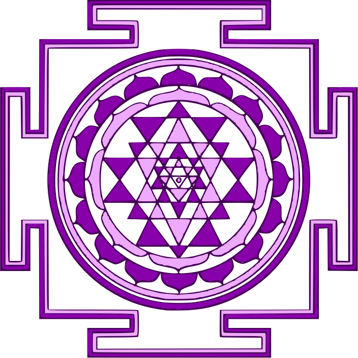 Mandala by dibargatin - A mandala graphic done in purple.